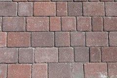 Ziegelsteinboden, Betonblock Hintergrund und Beschaffenheit lizenzfreies stockfoto