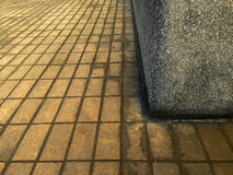 Ziegelsteinboden-Hintergrundbeschaffenheit, einfarbig Stockfotos