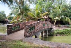 Ziegelsteinbrücke stockfotos