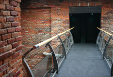 Ziegelsteinbrückeninnenraum Stockfotos