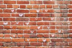 Ziegelsteine der Liebe Stock Abbildung