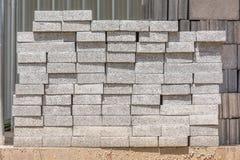 Ziegelsteine für Aufbau Stockfotografie