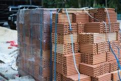 Ziegelsteine für Aufbau Lizenzfreies Stockfoto