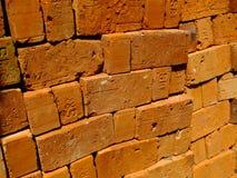 Ziegelsteine für Hochbau Stockbild