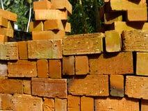 Ziegelsteine für Hochbau Stockfoto
