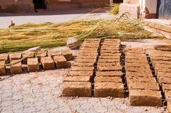 Ziegelsteine getrocknet auf der Sonne Lizenzfreie Stockfotografie