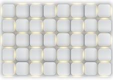 Ziegelsteine mit leuchtenden Schlitzen stock abbildung