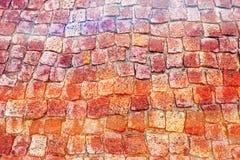 Ziegelsteine und Pflasterung Stockfotografie