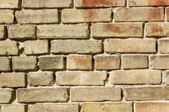 Ziegelsteinfassade des Hauses Lizenzfreies Stockfoto