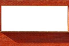 Ziegelsteinfenster für Text Lizenzfreies Stockfoto