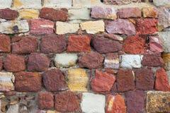 Ziegelsteinfestungswand 1 stockfoto
