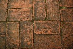 Ziegelsteinfußboden Stockbilder