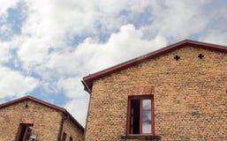 Ziegelsteingebäude. Stockfoto