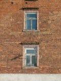 Ziegelsteinhaus Stockfotos