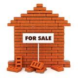 Ziegelsteinhaus für Verkauf Stockbild