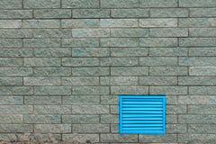 Ziegelsteinhintergrund mit blauem Akzent Stockbild