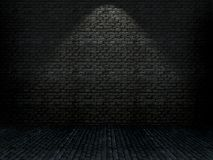Ziegelsteininnenraum des Schmutzes 3D Lizenzfreie Stockfotografie