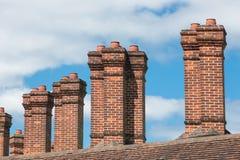 Ziegelsteinkamin an den Gebäuden nahe Windsor Castle England Stockbild