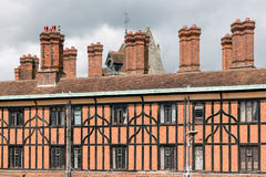 Ziegelsteinkamin an den Gebäuden nahe Windsor Castle England Stockfotos