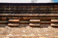 Ziegelsteinmuster auf Kirchenwand in Montour-Fälle lizenzfreie stockbilder
