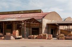 Ziegelsteinproduktion Lizenzfreies Stockfoto