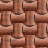 Ziegelsteinrot rundete die Blöcke, die für nahtlosen Hintergrund gestapelt wurden - Dekorationsmaterial - Terrakottafarbton lizenzfreie abbildung