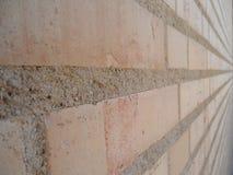 Ziegelsteinsteinwand als Teil der Architektur in Vaduz lizenzfreie stockfotos