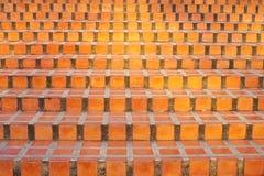 Ziegelsteintreppenhaus Stockfoto