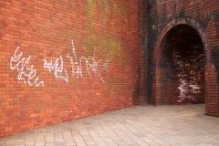 Ziegelsteintunnel Stockbild