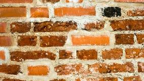 Ziegelsteinwand-Beschaffenheitshintergrund des roten Lehms Stockfotos