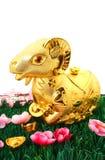 Ziegen-Statue für Chinesisches Neujahrsfest 2015 Lizenzfreie Stockfotos