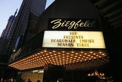 Ziegfeld剧院大门罩 免版税库存图片