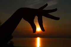 Ziehen der Sonne Lizenzfreie Stockfotos