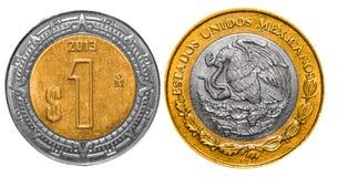 Ziehen sich mexikanische Pesos 1 zurück und konfrontieren Lizenzfreie Stockfotografie