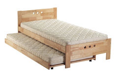 Ziehen Sie Bett aus lizenzfreies stockbild
