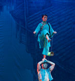 Ziehen Sie die Glocke-akrobatische showBaixi Traum-Nacht Stockfotos