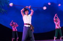Ziehen Sie die Glocke-akrobatische showBaixi Traum-Nacht Stockfotografie