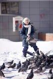 Ziehen Sie die Tauben ein Lizenzfreies Stockbild