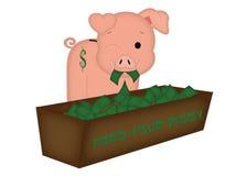 Ziehen Sie Ihr Piggy ein Stockfotografie