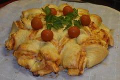 Ziehen Sie Pizza-Stern-Brot -1 auseinander stockbild