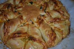 Ziehen Sie Pizza-Stern-Brot -3 auseinander stockfoto