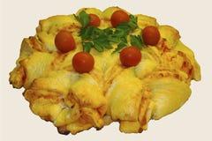 Ziehen Sie Pizza-Stern-Brot -1A auseinander stockfoto