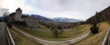 Vaduz-Schloss-Ansicht Lizenzfreies Stockfoto