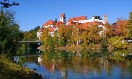 Ziehen Sie sich in Deutschland, die Stadt von Fussen zurück Stockfotos