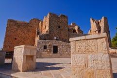 Ziehen Sie sich im Ajloun/Qalaâat Al-Rabadh zurück Stockbild