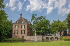 Ziehen Sie sich Kinkelenburg in der historischen Mitte von Bemmel zurück Lizenzfreie Stockbilder