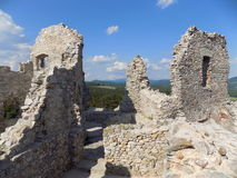 Ziehen Sie sich Ruinen zurück Stockbilder