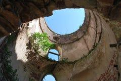 Ziehen Sie sich Ruinen zurück Stockbild