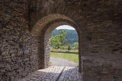 Ziehen Sie sich Turm, Wehrturm Elsterberg, Burg Ruine zurück Lizenzfreies Stockbild