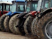 Ziehen von Leistung, Dieseltraktoren Lizenzfreies Stockfoto